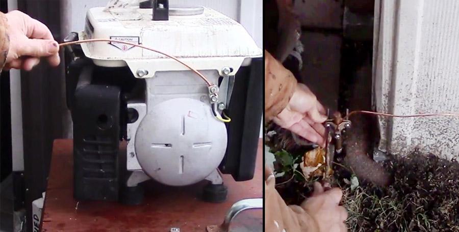 Grounding a Generator