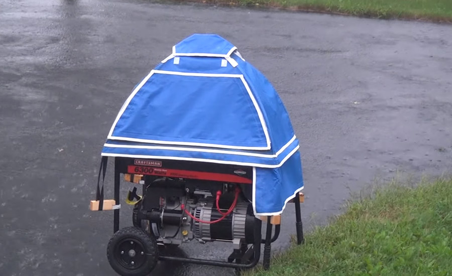How to Run a Generator in the Rain, Snow, or Wet Weather