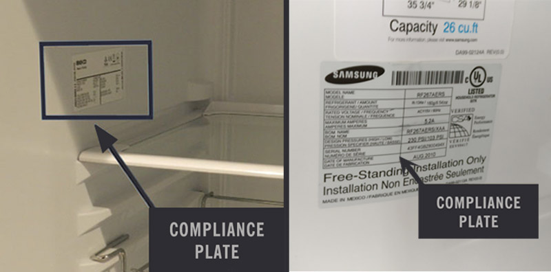 Compliance Plate of a Fridge