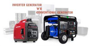 difference between inverter generators and conventional generators